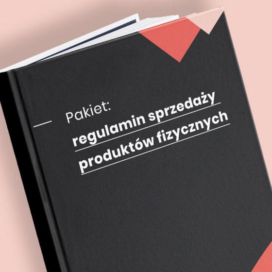 regulamin sprzedaży produktów fizycznych wzór