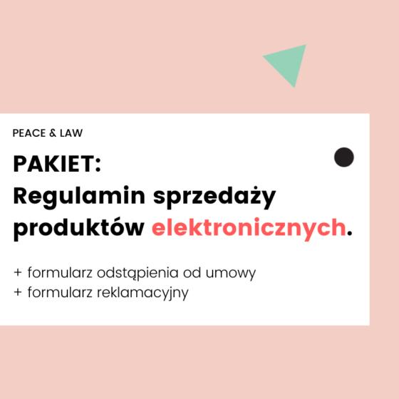 regulamin sprzedaży produktów elektronicznych.