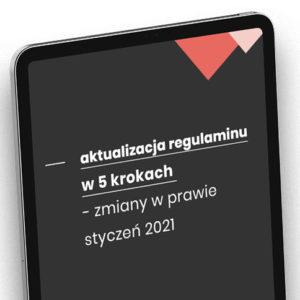 aktualizacja regulaminu zmiany w prawie 2021